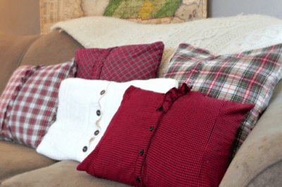 Plaid Thrift Store Shirts to Cozy Throw Pillows