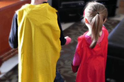Easy T-Shirt Superhero Capes