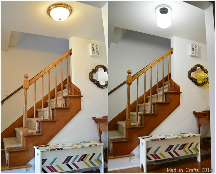 Hall Lighting Before and After