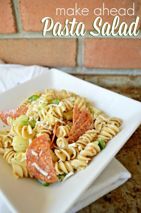 Make Ahead Pasta Salad