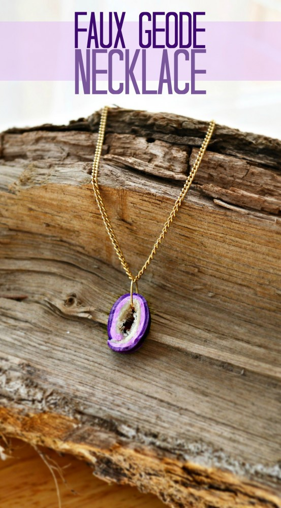 Faux Geode Necklace Polymer Clay Tutorial