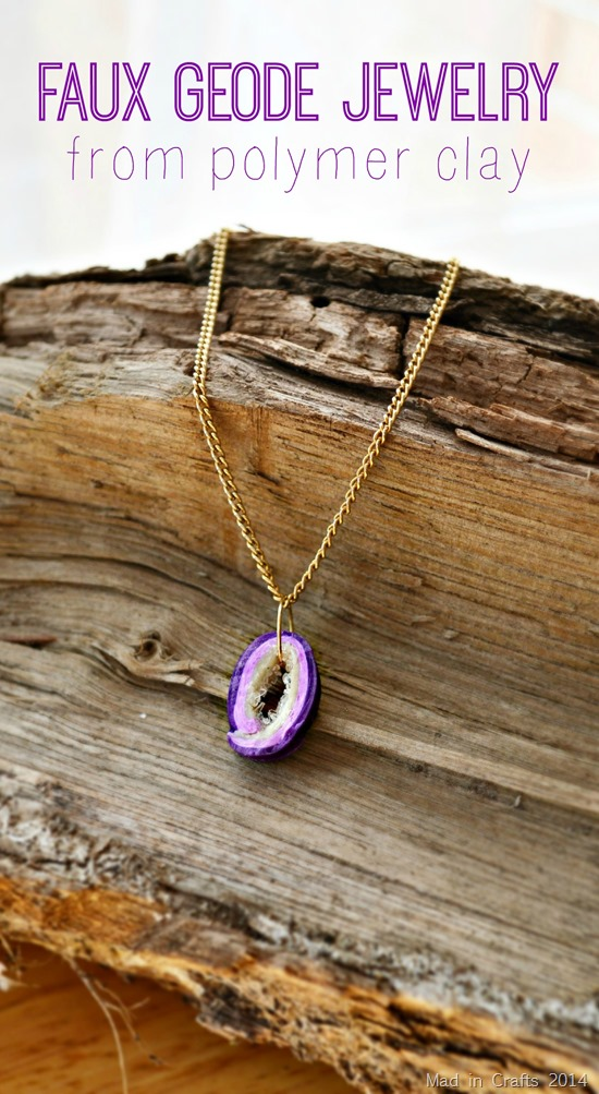 EASY FAUX GEODE NECKLACE FROM POLYMER CLAY