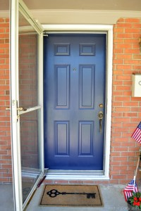 THE MAGIC OF A PAINTED FRONT DOOR - Mad in Crafts