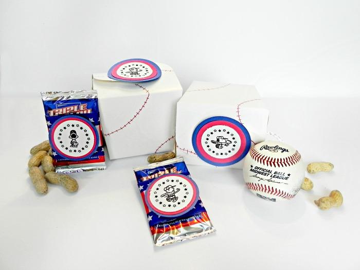 baseball party favor boxes