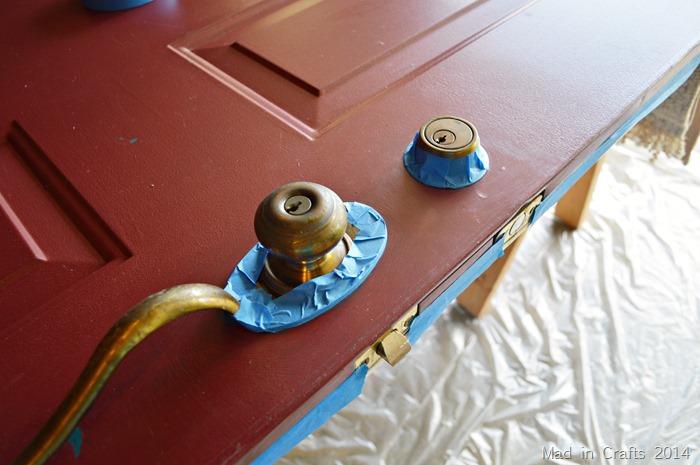 tape off door hardware