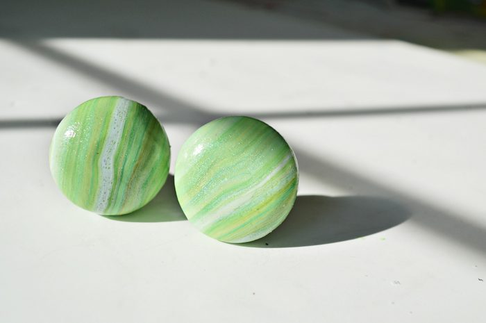 Marbled Clay Knob Detail