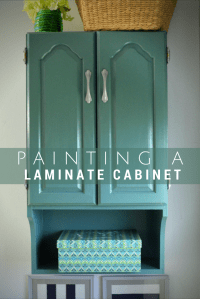 PAINTED BATHROOM STORAGE CABINET - Mad in Crafts