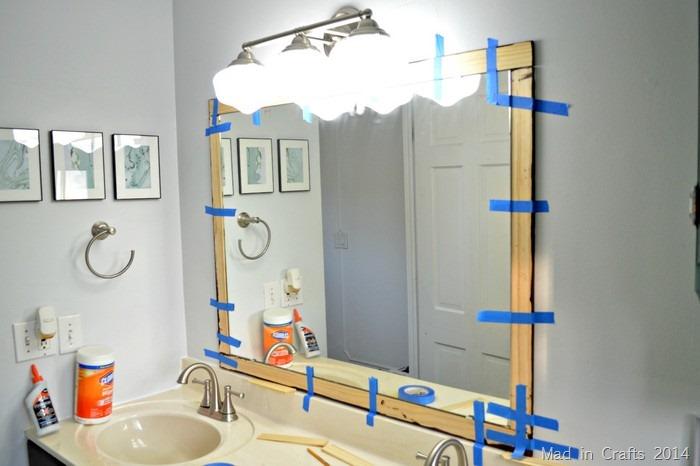 furring strips around mirror