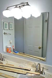 unframed bathroom mirrors framed bathroom mirror mad in crafts