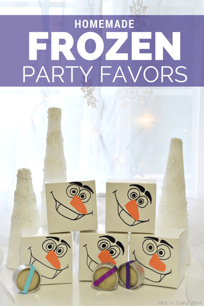 Inexpensive Homemade Frozen Party Favors