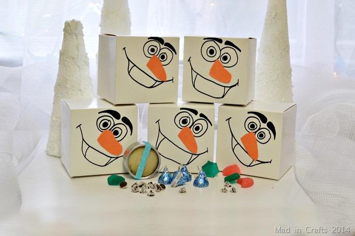 Treats in Frozen Favor Boxes