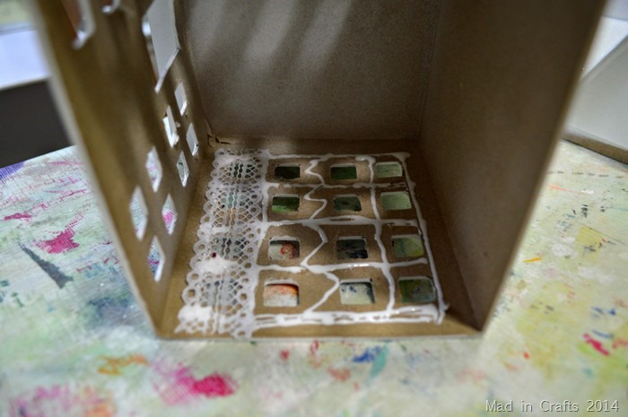 glue lace inside house