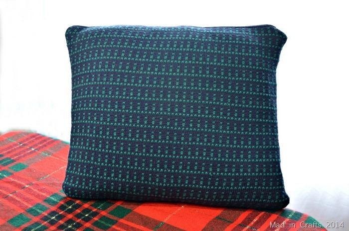 diy sweater pillow cover