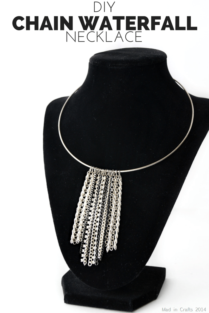 DIY CHAIN WATERFALL NECKLACE (1)