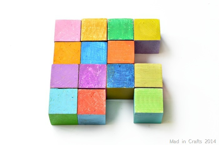 Oil Pastel colored blocks Mad in Crafts