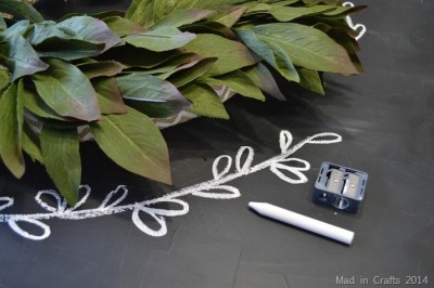 SIMPLE CHALKBOARD & WREATH MANTEL