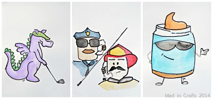 blank illustrations