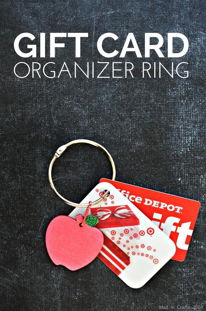 Gift Organizer Ring Tutorial