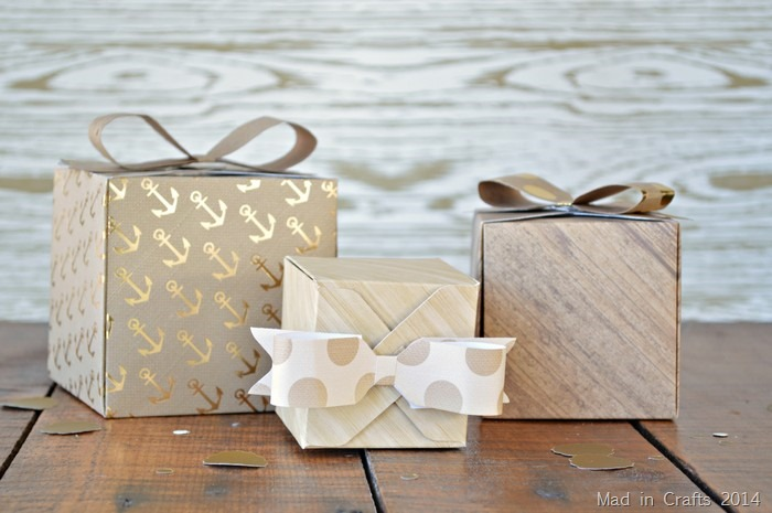 SCRAPBOOK PAPER PARTY FAVOR BOXES