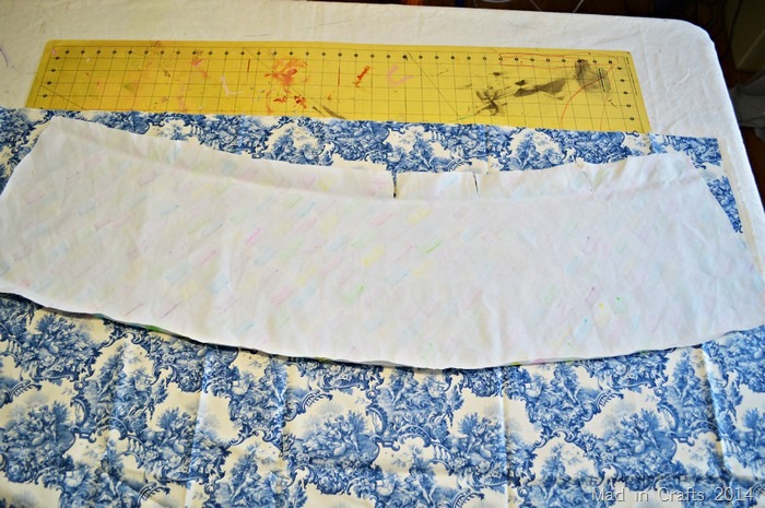 trace and cut fabric to size