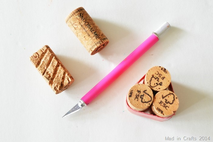 making cork stamps