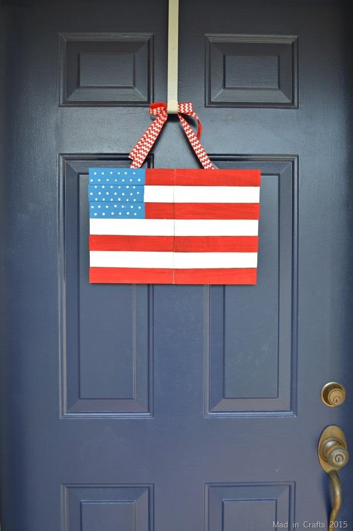 American Flag Door Hanging
