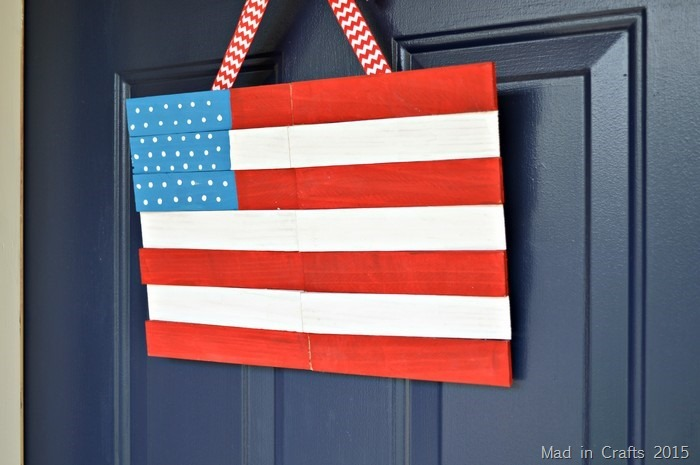 WOOD SHIM AMERICAN FLAG HANGING