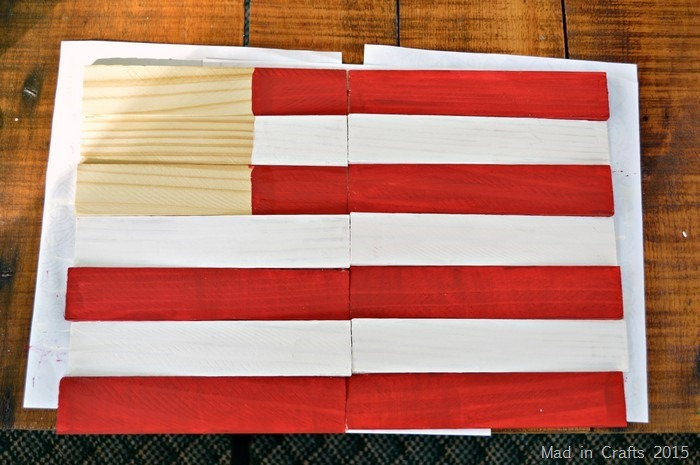 painted flag stripes