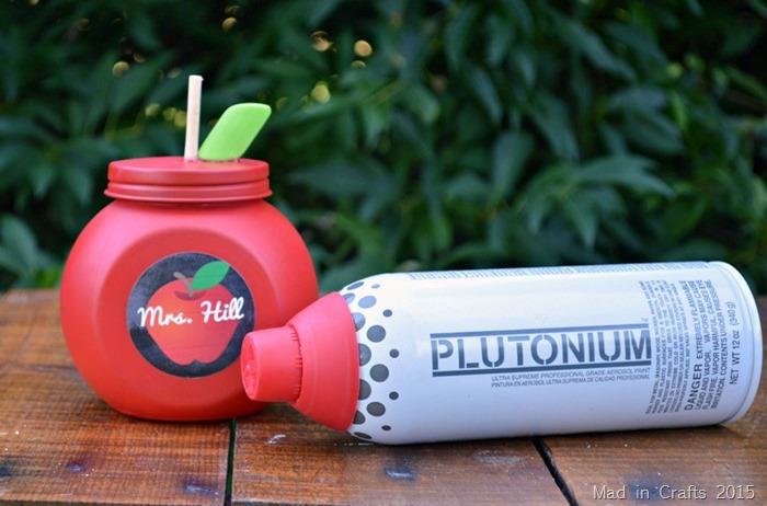 Plutonium Painted Apple Jar