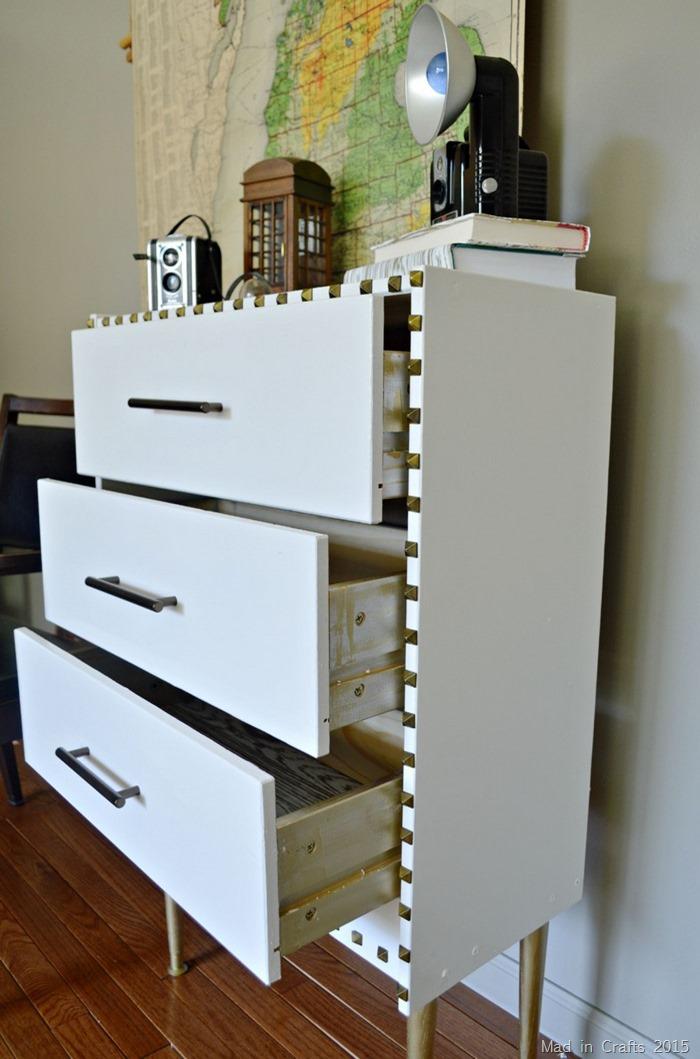 gold drawer sides