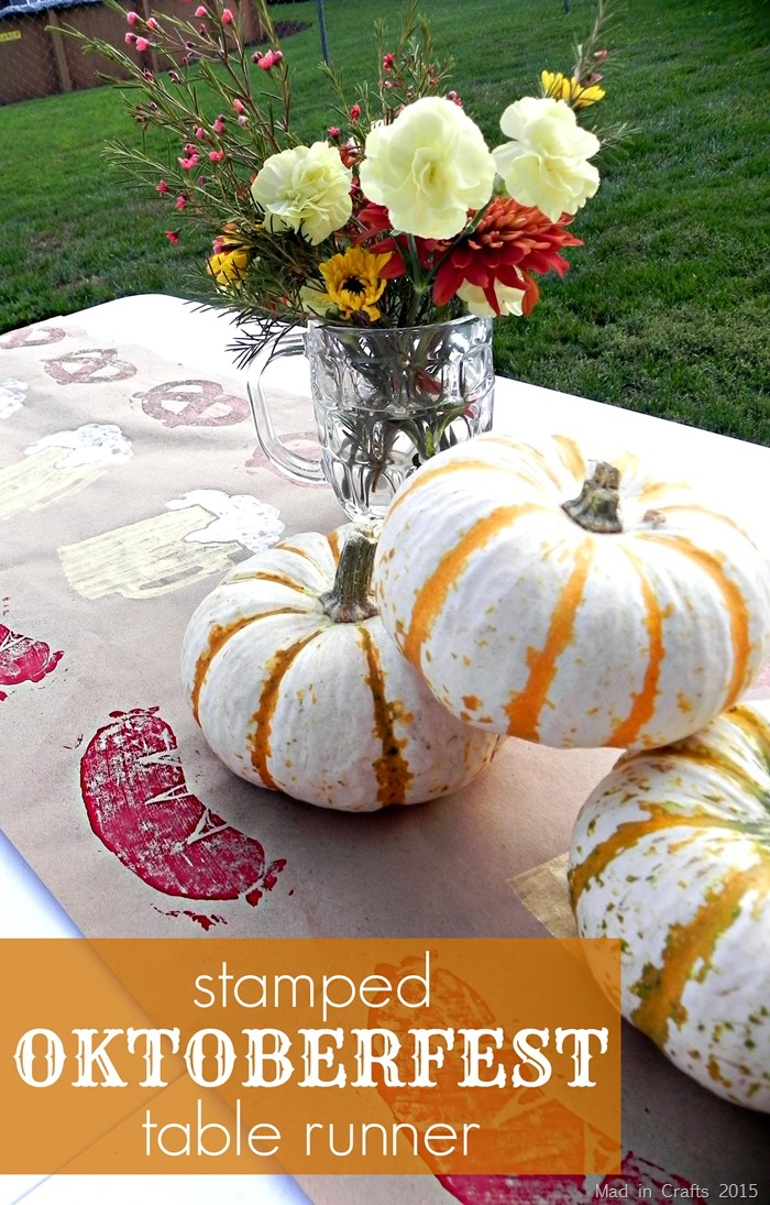 Stamped Oktoberfest Table Runner