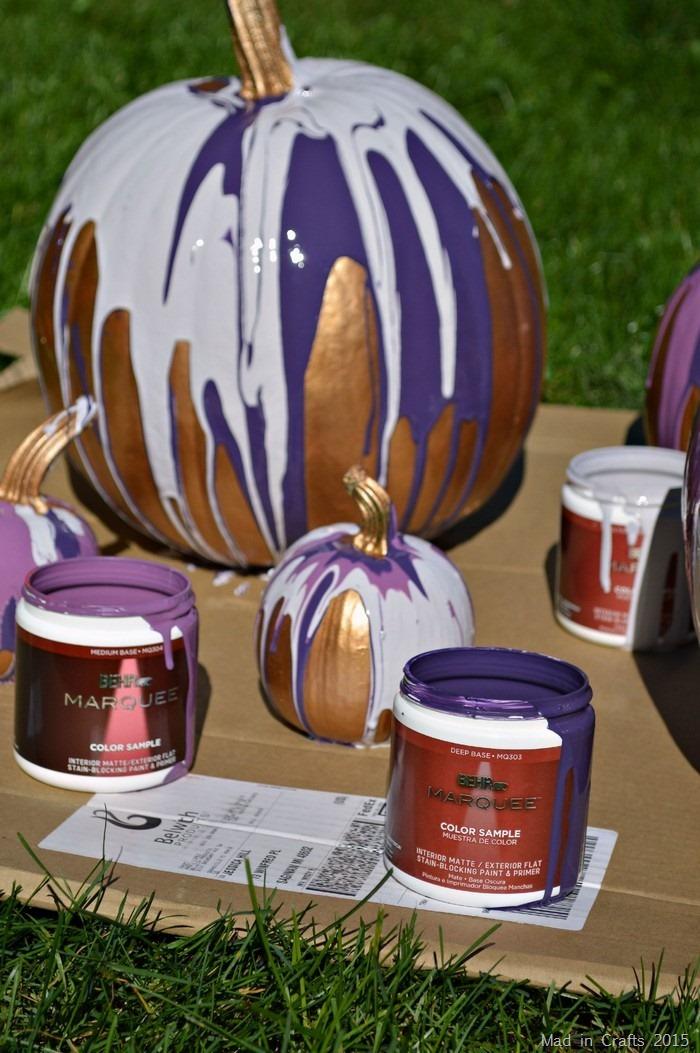 behr marquee on pumpkins