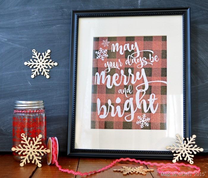 Glittery Christmas Printable