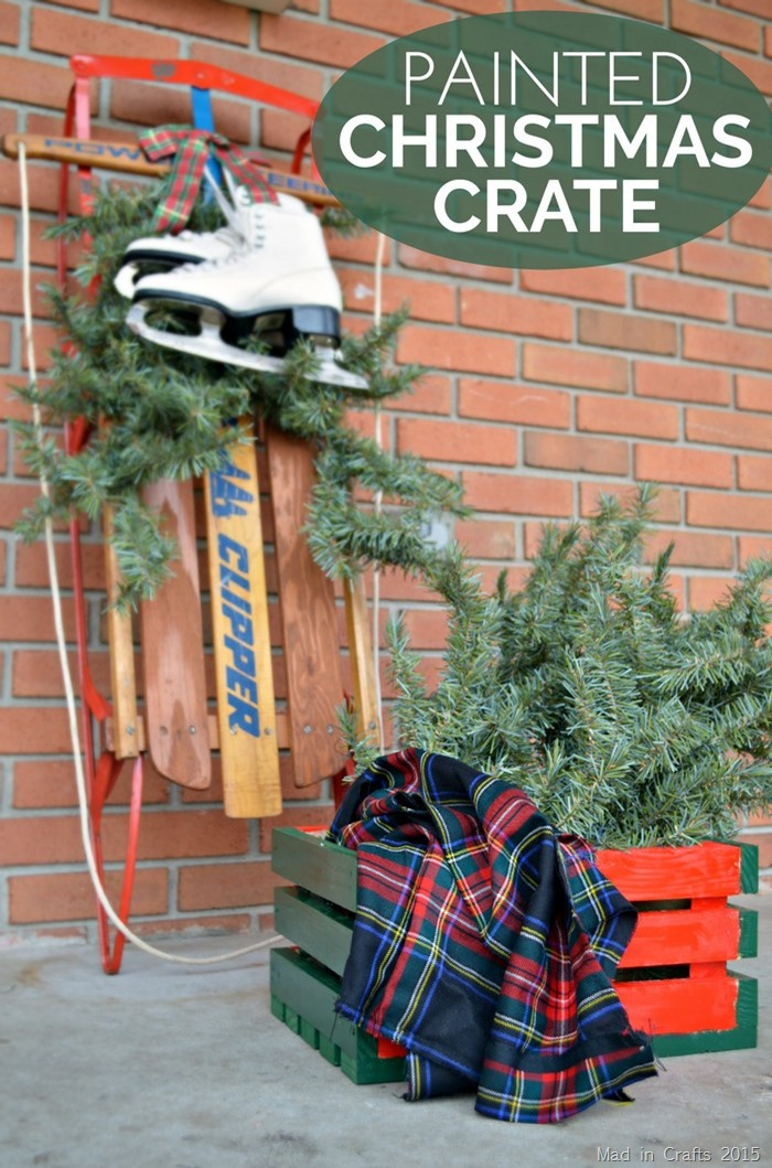 Maxx Gloss Painted Christmas Crate