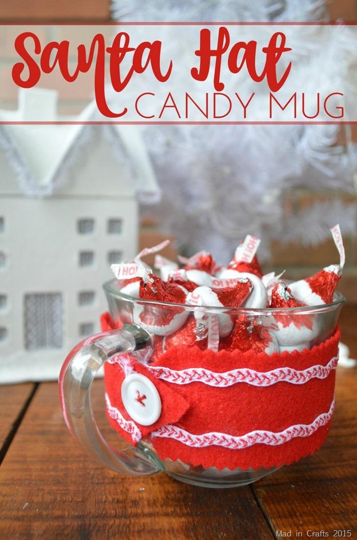 Santa Hat Candy Mug
