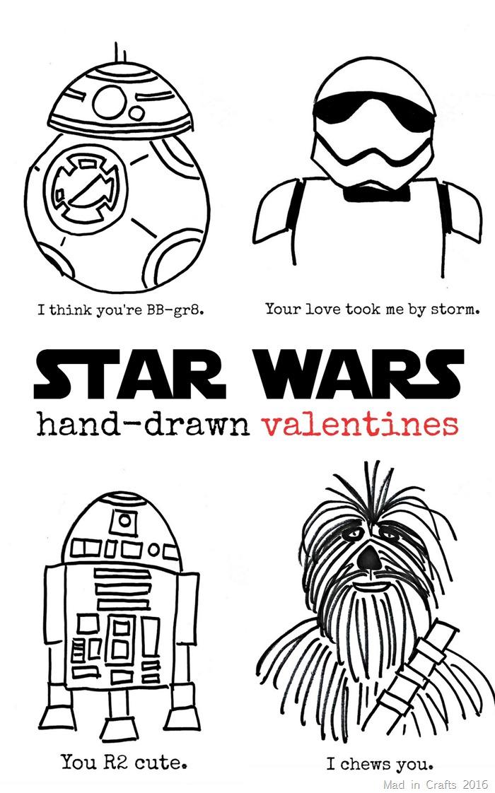 Online Finds: Free Hand-Drawn Star Wars Valentine's Day