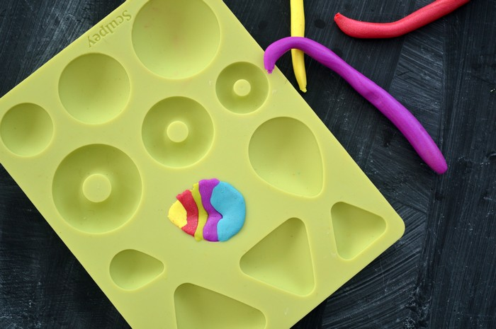 fill the clay mold