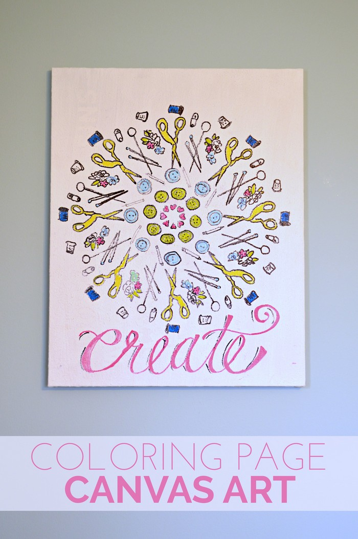 Coloring Page Canvas Art