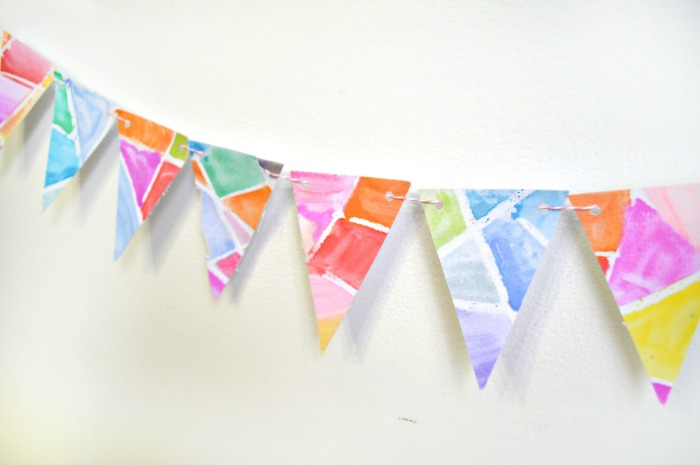 STAINED GLASS EASTER BUNTING