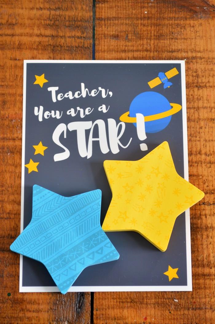 STAR POSTIT TEACHER GIFTS Handmade Gifts Mad in Crafts