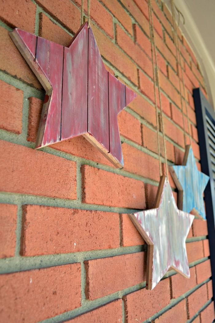 Patriotic Wood Stars