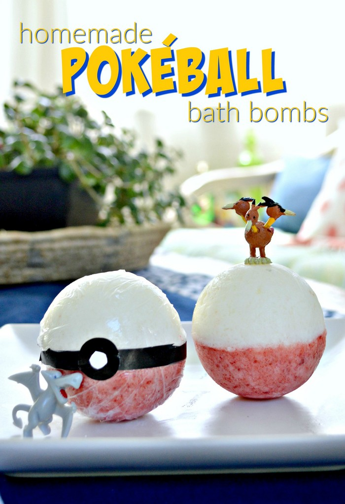 How to Make Your Own Pokeball Bath Bombs