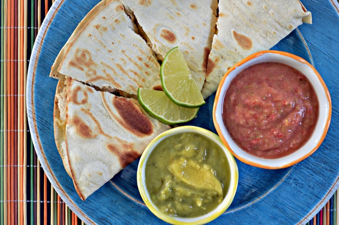 Quesadillas with Tangy Salsa