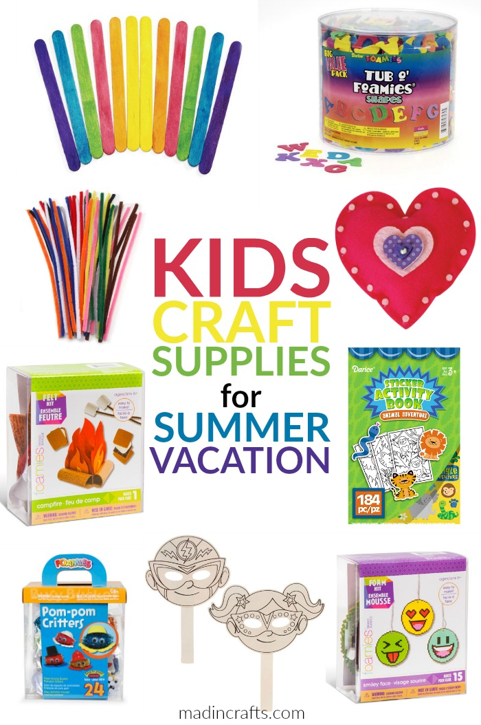 KIDS CRAFT SUPPLIES FOR SUMMER VACATION