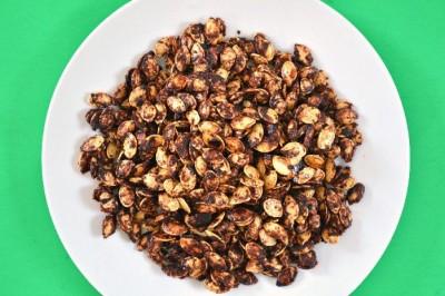 plate of cinnamon roasted sunflower seeds