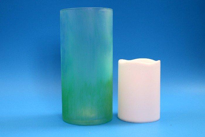 FAUX SEA GLASS VASE