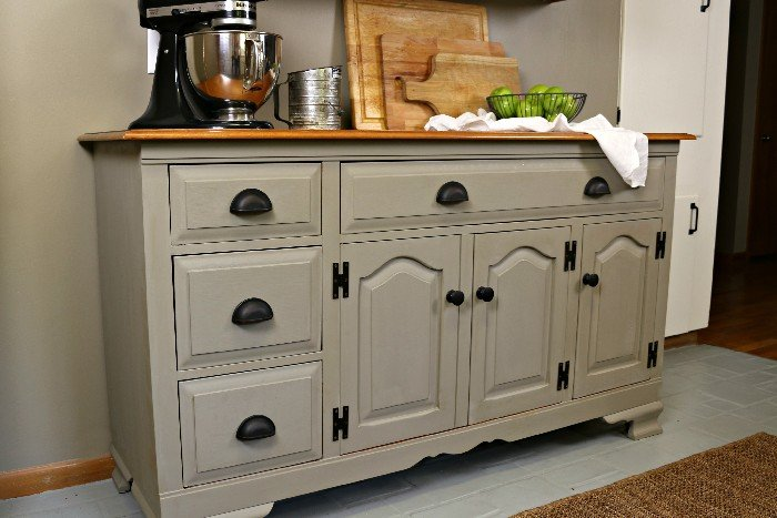 chalk painted buffet with