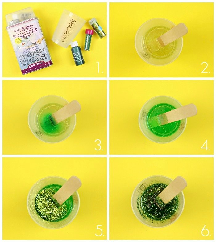 ADDING DYE AND GLITTER TO RESIN PROJECTS