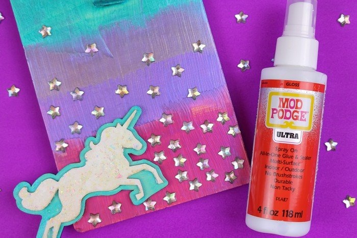 HOW TO USE MOD PODGE ULTRA AS AN ADHESIVE