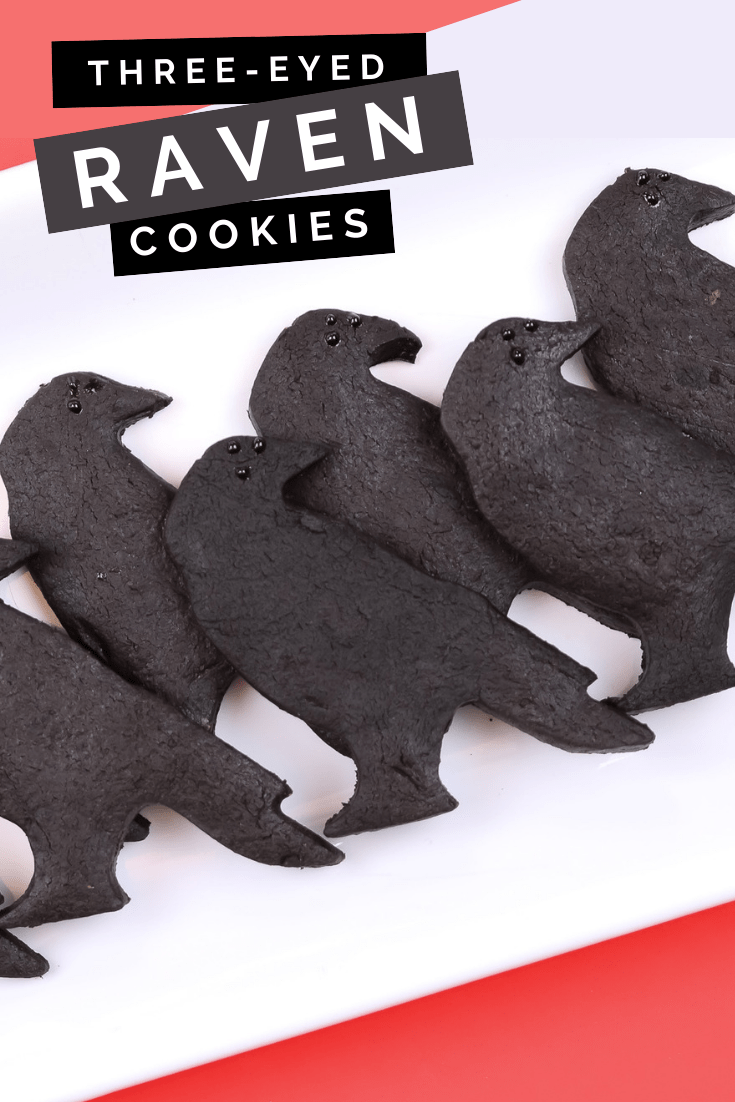THREE-EYED RAVEN CHOCOLATE CUT-OUT COOKIES